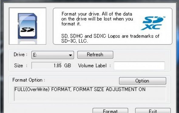 SD Card Formatter 4.0